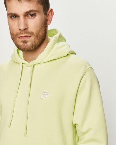 Zielona bluza z kapturem dzianinowa Nike Sportswear