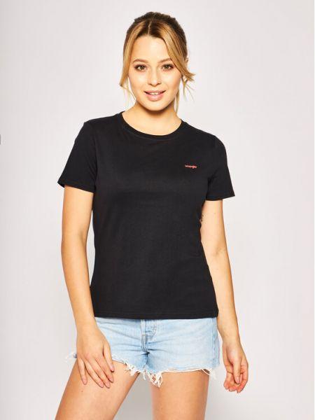 Czarny t-shirt Wrangler