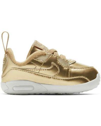 Кроссовки на шнуровке золотые Nike