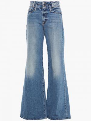 Синие широкие джинсы свободного кроя с поясом Frame