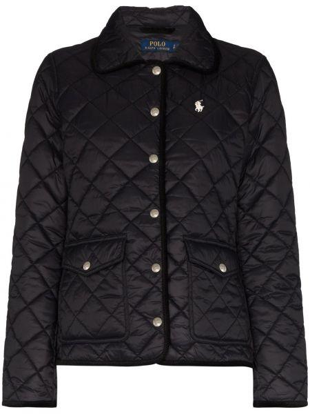 Нейлоновое черное классическое поло с карманами Polo Ralph Lauren