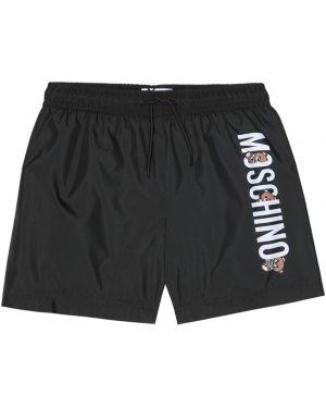 Kąpielówki czarny z logo Moschino Kids