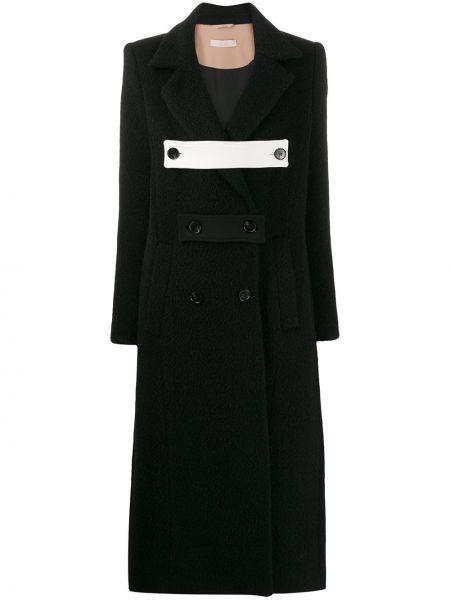 Шерстяное черное длинное пальто Ssheena