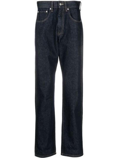Bawełna niebieski bawełna szeroki jeansy z kieszeniami Namacheko
