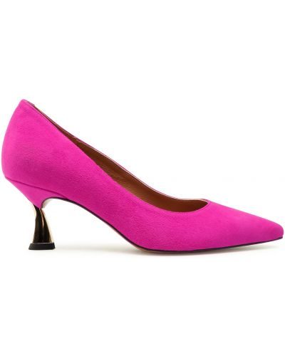 Туфли на каблуке - розовые R.polański