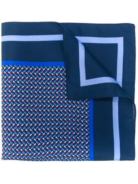 Платок синий деловой Ermenegildo Zegna
