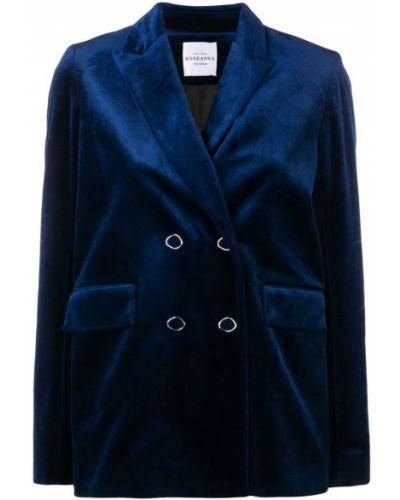 Синий удлиненный пиджак на пуговицах Roseanna