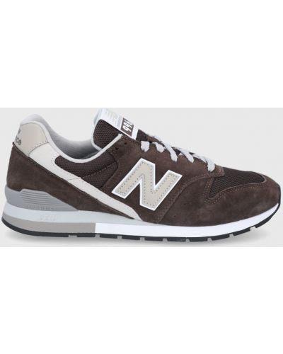 Brązowe sneakersy skorzane sznurowane New Balance