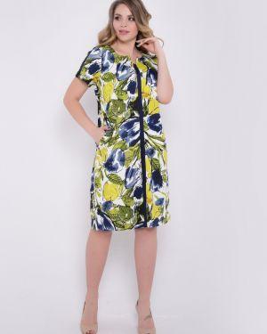 Летнее платье мини с цветочным принтом тм леди агата