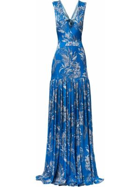 Платье с открытой спиной с декольте Alexis