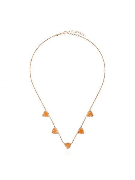 Ожерелье с бриллиантом золотое Jacquie Aiche