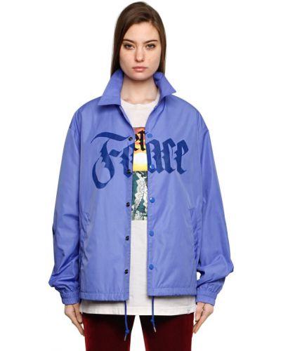 Ватная синяя куртка с воротником Facetasm
