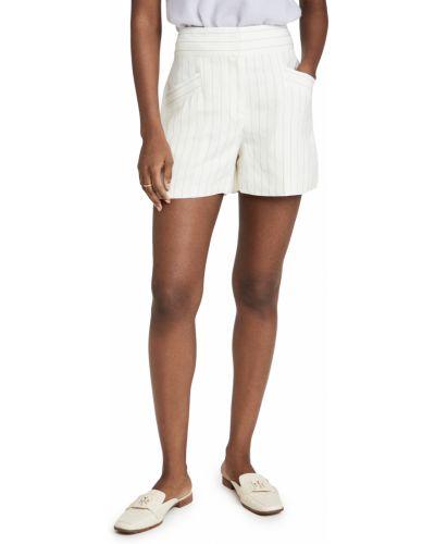 Льняные шорты с карманами с нашивками на крючках Club Monaco