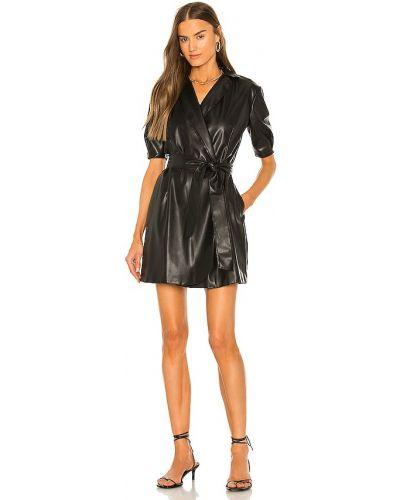 Czarna sukienka skórzana Bailey 44