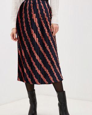 Плиссированная юбка синяя индийский Only