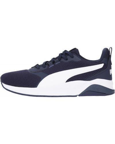 Синие кожаные кроссовки на шнуровке Puma