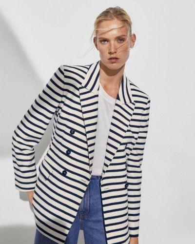 Бежевый пиджак осенний Massimo Dutti