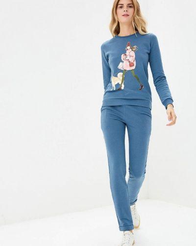 Синий брючный костюм Fashion.love.story