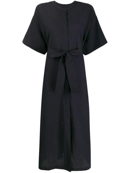 Платье миди на пуговицах с поясом Lvir