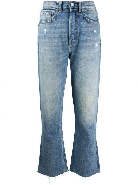 Укороченные джинсы расклешенные mom Boyish Denim