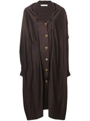 Шерстяное длинное пальто с капюшоном на пуговицах Christian Dior Pre-owned