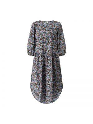 Niebieska sukienka rozkloszowana bawełniana Moves