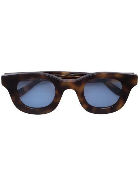 Прямые солнцезащитные очки квадратные хаки с завязками Thierry Lasry