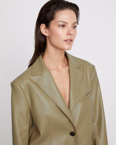 Мягкий зеленый кожаный пиджак 12storeez