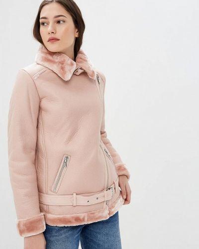 Розовая дубленка Incity