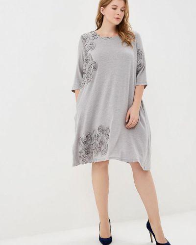 Повседневное платье серое осеннее Zar Style