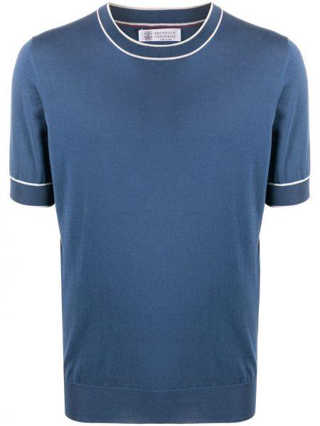Koszula krótkie z krótkim rękawem wyposażone niebieski Brunello Cucinelli