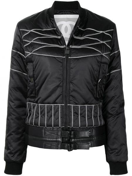 Черная куртка длинная Chanel Pre-owned