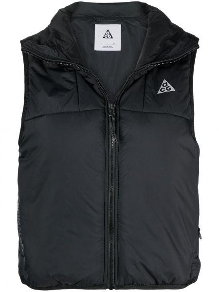 Черная жилетка без рукавов с нашивками Nike