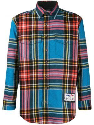 Niebieska klasyczna koszula bawełniana z długimi rękawami Just Don