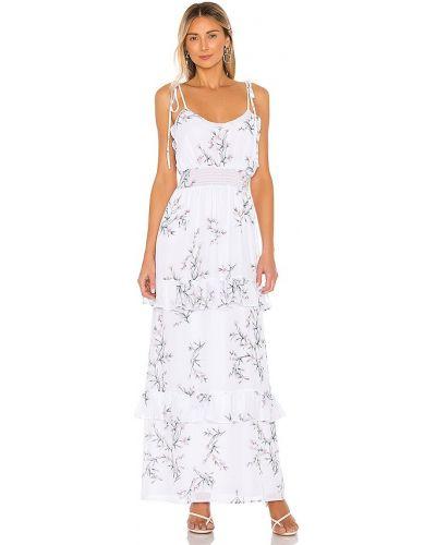 Шифоновое белое платье макси свободного кроя The Jetset Diaries
