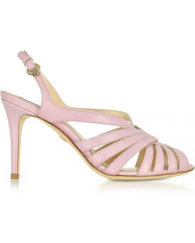 Różowe sandały Roberto Cavalli