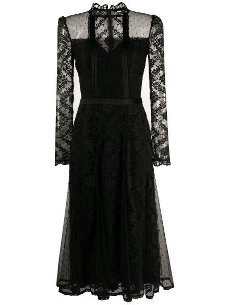 Платье миди на молнии черное Temperley London