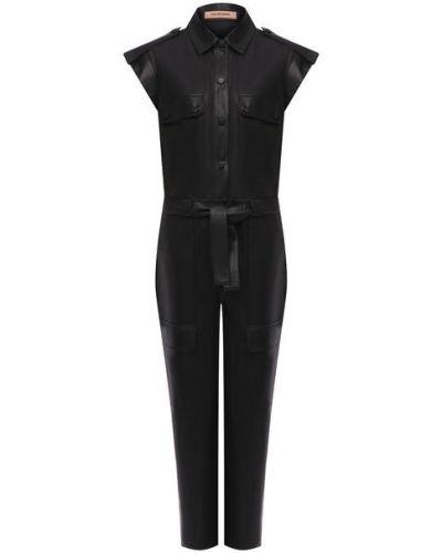 Кожаный комбинезон - черный Yves Salomon