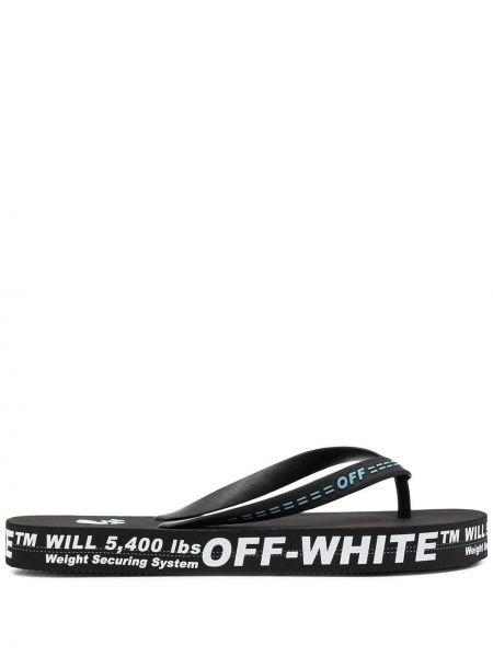 Czarne klapki Off-white