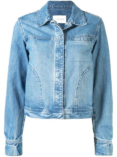 С рукавами текстильная синяя джинсовая куртка с воротником Nobody Denim
