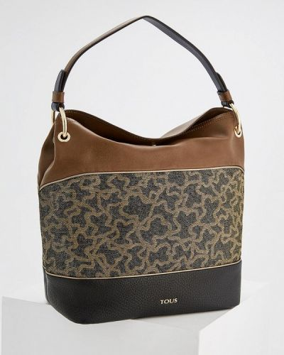 Коричневая кожаный сумка Tous