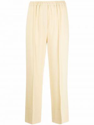 Желтые прямые брюки Antonelli