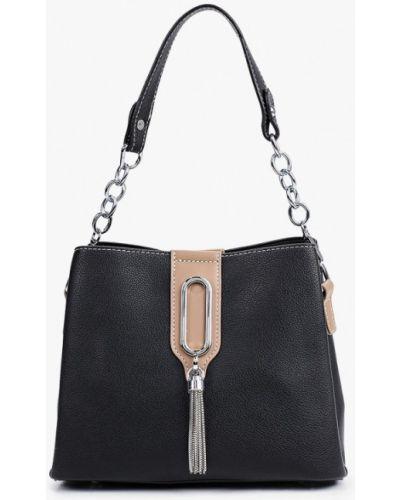 Черная кожаная сумка Izabella