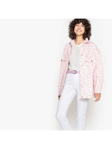 Джинсовая куртка длинная прямая La Redoute Collections