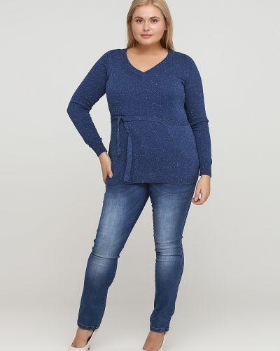 Прямые синие джинсы Zizzi