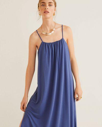 Платье с поясом трикотажное свободного кроя Mango