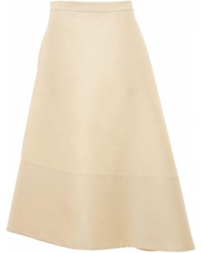 Wełniany beżowy asymetryczny spódnica Jil Sander