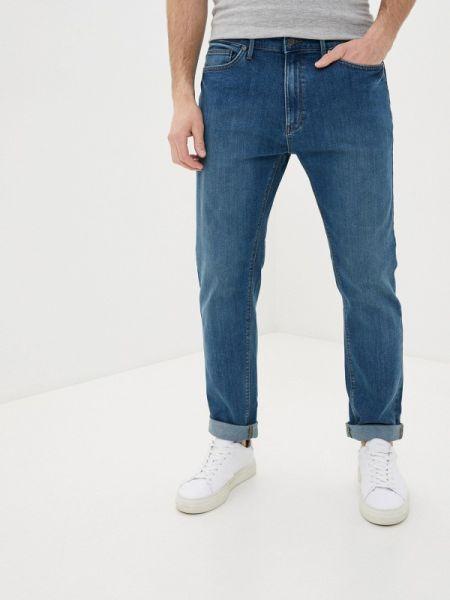 Синие зауженные джинсы-скинни из микрофибры Marks & Spencer