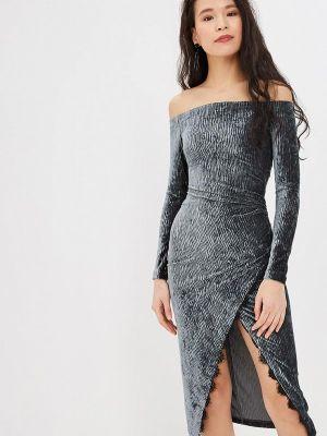 Вечернее платье бирюзовый осеннее Ruxara