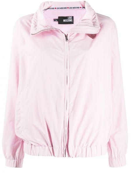 Куртка розовая на молнии Love Moschino